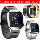 Metal Watch Frame + Watchband Steel Wrist Strap For Fitbit Blaze Fitbit Charge2