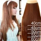 180g one piece 100% Real Human Hair Full Head Clip in Remy Hair Extensions THICK