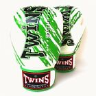 Twins Special Green & White Claw Muay Thai Boxing Gloves