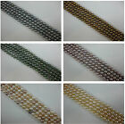 Wholesale 5 Strands Oval Shape Cultured Freshwater Loose Pearl Bead No Combine