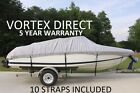 VORTEX+GRAY+25%27+TO+26%27+VH+BOAT+COVER+FOR+FISHING%2FSKI%2FRUNABOUT