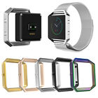 Stainless Steel Clasp Holder Shell Frame Case for Fitbit Blaze Smart Watch