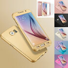 360° Luxury Hybrid Acrylic Hard Case Cover+Tempered Glass For Samsung S6 S7