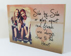 "Personalised 6x8"" plaque with photo best friends friendship quote unique gift"