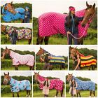 PONY COB HORSE SHOW TRAVEL STABLE COOLER SHEET PRINTED FLEECE COMBO NECK RUG