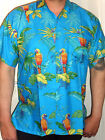 mens baby blue cockateil tropical parrot bird hawaiian shirt sz S m l xl xxl 3xl