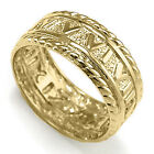 Men's 14k Solid Yellow Gold Roman Design Ring Sizes 7 to 14 #R1199.