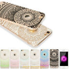 Henna Flower Paisley Tribal Clear Soft Cover Phone Case for iPhone SE 5 6 7 Plus