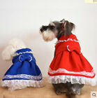Dresses for Small Pets X'mas New Year Ruffle Dog Dress Cat Skirt Pet Clothes