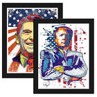"Trump 2016 Reagan SET OF 2 11x14"" Political Art Print Poster GOP Conservative"