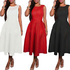 STON Lady Womens V Back Backless Swing Evening Party Slim Cocktail Dresses