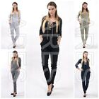 Ladies Jumpsuit Size 8/10/12 Women's Romper with Chain 3/4 Sleeve