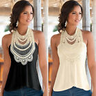 Hot Women Sleeveless Lace Vest Fashion Summer Top Blouse Tank T-Shirt Tops CO