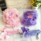 NEW Lace Cute Dog Harness Leashes Pet Harness Leashes Set S M L XL