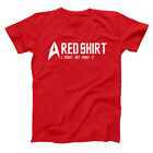Red Shirt Might Not Make It  Funny Star Trek Comic Red Basic Men's T-Shirt