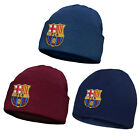 FC Barcelona Official Football Gift Kids Knitted Bronx Beanie Hat Crest