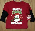 NWT 12 Mon - 24 Mon U PICK Daddy's Cool Little Guy Layered Look LS T-SHIRT
