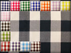 "Poly Poplin Checkered Fabric / 58"" Wide / Sold by the yard"