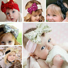 Baby Girls Sequined Bow Glitter Elastic Headband Turban Knot Hair Accessories