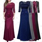 Women Maxi Formal Cocktail Evening Party Bridesmaids Ball Gowns Lace Long Dress