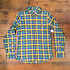 Altamont New Long Sleeve Checkered Shirt Green Yellow Navy size S / L