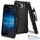 For Microsoft Lumia 950 Ultra Rugged Hybrid TPU Kickstand Belt Clip Holster Case