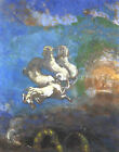 Symbolist French art print: Chariot of Apollo by Redon