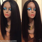 """16"""" Italy Yaki Straight 100% Brazilian Remy Human Hair Lace Wigs Full/Front Lace"""