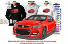2014-16 VF SS COMMODORE SEDAN HOODIE ILLUSTRATED CLASSIC RETRO MUSCLE SPORTS CAR