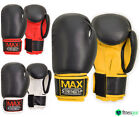 Rex Leather Boxing Gloves Fight Punch Bag Training MMA UFC Muay Thai Pad Gloves