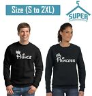 Prince Princess FASHION Couple CREWNECK Sweatshirt Best Couple Sweaters BLCK-BLC