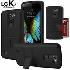Advanced Armor ID Card Holder Hybrid Wallet Case For LG K7 Tribute 5 Escape 3