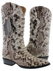 Mens Genuine Full Snakeskin Leather Rare Rodeo Cowboy Boots New J Toe Collection