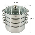 Stainless Steel Steamer 4 Tier Cooking Hot Pot Cookware 4 Layers 26 30 32 38 cm