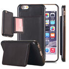 For IPhone 6/6s Plus Wallet Leather Back Pouch TPU Case With Stand Card Holder