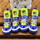 NEW 4Pcs/Set Dog Puppy Boots Pet Shoes for Small Medium Dogs Angel Eye 5 Sizes