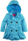 Pink Platinum Little Girls' All Over Spray Hooded Trench Spring Jacket with Belt