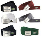 LACOSTE CANVAS BELT - ADJUSTABLE CANVAS BELT - MENS & BOYS LACOSTE BELTS