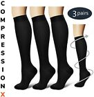 Kyпить (3 Pairs) S-XXXL Compression X Socks Knee High 20-30mmHg Graduated Mens Womens  на еВаy.соm