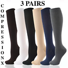 3 Pairs S XXXL Compression X Socks Knee High 20 30mmHg Graduated Mens Womens