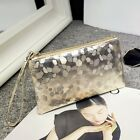 HOT Lady's Zipper Purse Fashion Shiny Wrist Bag Coin Card Pnone Portable Holder