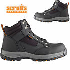 MENS SCRUFFS LEATHER STEEL TOE CAP SAFETY MIDSOLE WORK BOOTS HIKER LACE TRAINERS