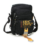 Black Green Casual Shoulder messenger Bag Multi-pocket fastener for daily stuff