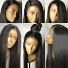 Best Virgin Human Hair Silk Straight Full Lace Wigs Glueless Lace Front Wigs