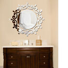 High-quality circular mirror wall stickers removable home decoration wreath DIY