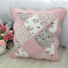Shabby Embroider Quilted Cotton Cushion Cover Pillow Case Sham Patchwork Retro