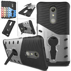 Armor Shockproof Rubber Hybrid Hard Stand Case Cover For ZTE Zmax Pro Z981