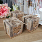 10/50pcs Love Heart Kraft Candy Boxes Wedding Party Favour Gift Bags Home Decor