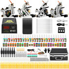 Beginner Complete Tattoo Kit 4 Machine Power Supply Set Grip 54 color Ink Needle