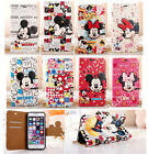 Cute Disney Minnie Mickey Leather Flip Wallet Case Cover for iPhone 6/6S/7 Plus